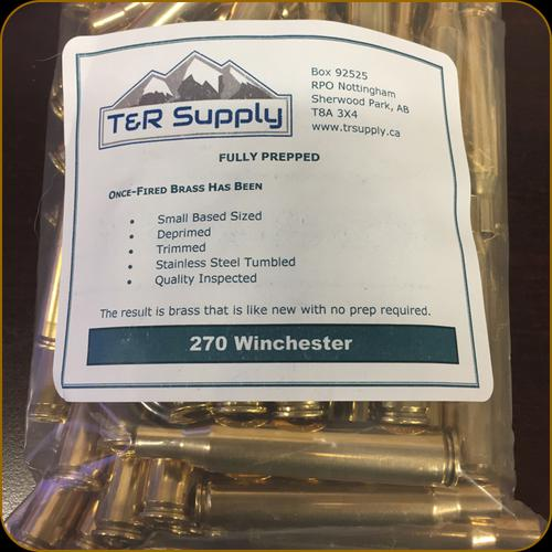 T&R Supply - 270 Winchester - Once-Fired Brass - Matched Headstamp - Remington - 100ct?>