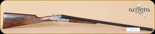 "Arrieta - 12Ga/2.75""/28"" - 581 - Venatum, First Quality Walnut/Blued, round action, ejectors, concave rib, double triggers?>"