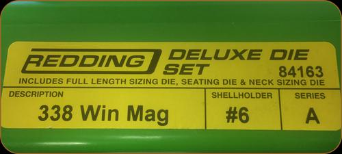 Redding - Deluxe Die Set - 338 Winchester Mag - 84163?>