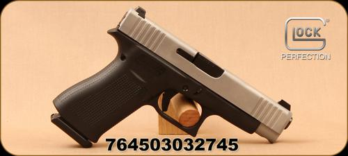 "Glock - 9mm - G48 - Semi-Auto - Black Polymer Grips/Silver nPVD coated slide, 4.17""Barrel, 2 magazines, Mfg# PA485SL701?>"