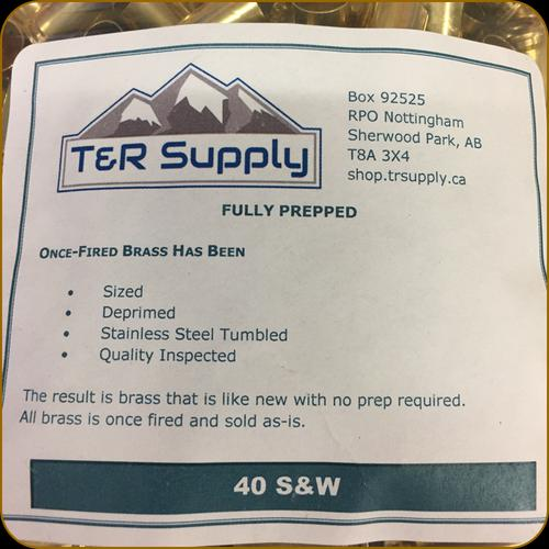 T&R Supply - 40 Smith & Wesson - Once-Fired Brass - Mixed - 250ct?>