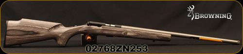 "Browning - 22LR - T-Bolt Target/Varmint - Bolt Action Rimfire Rifle - Grey Laminate Stock/Stainless Finish, 22"" Threaded Barrel, 10 Rounds, Mfg# 025236202, S/N 02768ZN253?>"