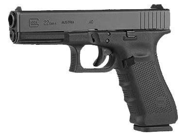 Glock G22 GEN4 .40 S&W, 4.5″ Barrel, Fixed Sights – Black?>