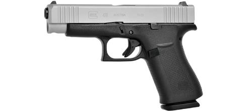 Glock 48 Pistol, 9x19mm, Silver Slide, Fixed Sights?>