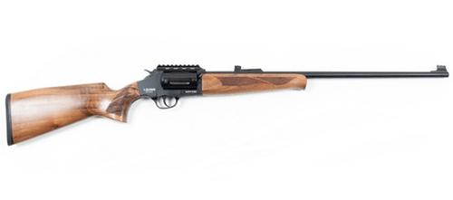 Lazer Arms XR410 410Ga Revolver Action Shotgun, 3″, Walnut Stock?>