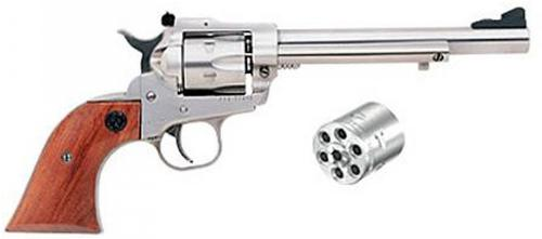 Ruger New Model Single-Six .22LR/.22WMRF Satin Stainless?>