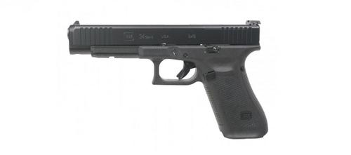 Glock G34 GEN5 9mm, 5.3″ Barrel, MOS, Fixed Sights – Black?>
