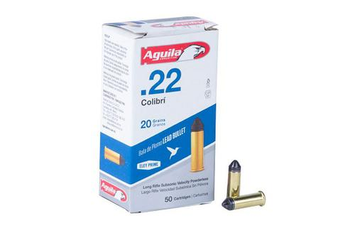Aguila .22 LR Colibri 20gr Subsonic – 50rds?>