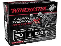 Winchester Long Beard 20 Gauge #6 1 1/4 oz. 3″ – Pack of 10 Shells?>