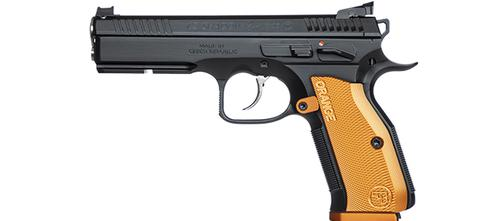 CZ Shadow 2 Orange Pistol 9mm (9×19 Luger), 5″ Stainless Barrel?>