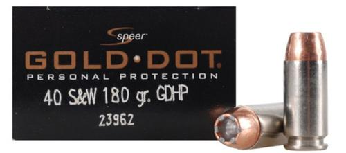 Speer Gold Dot 40 S&W 180gr GDHP box of 20?>