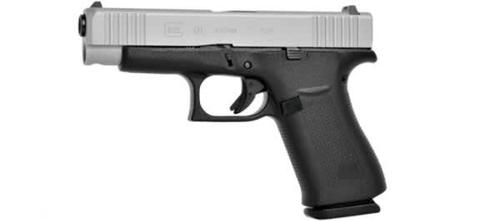 Glock 48 Pistol, 9x19mm, Silver Slide, AmeriGlo Bold Sights?>