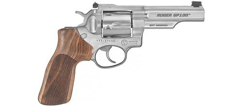 Ruger GP100 Match Champion .357 Mag, 4.2″, Hardwood Grips?>
