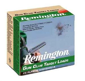 "Remington Target Loads, Gun Club Target Loads Shotgun Ammo - 12Ga, 2-3/4"", 3 DE, 1-1/8oz, #8, 250rds Case, 1200 fps?>"