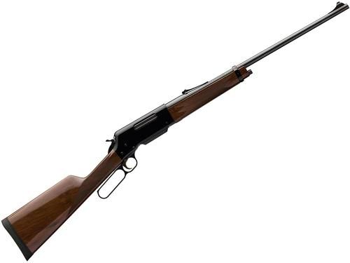 "Browning BLR Lightweight '81 Lever Action Rifle - 308 Win, 20"", Sporter Contour, Gloss Blued, Gloss Black Walnut Stock w/Straight Grip & Forearm, 4rds, Fully Adjustable Rear Sights?>"