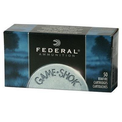 Federal Game-Shok Rimfire Ammo - High Velocity, 22 LR, 38Gr, Copper-Plated Hollow Point, 500rds Brick?>