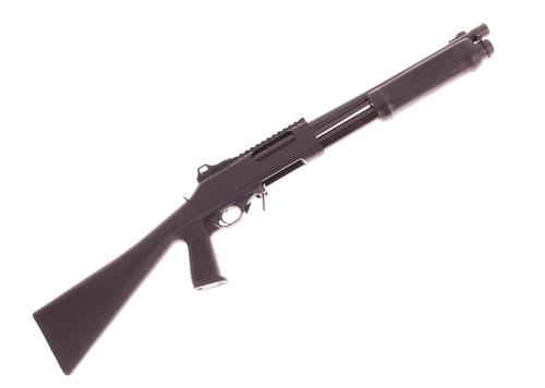 "Used Brixia (Valtro) PM5 Pump Action Shotgun - 12Ga, 3"", 14"", Matte Black, Plastic Fixed Pistol Grip Stock, 7rds, Ghost Ring Sights, Excellent Condition?>"