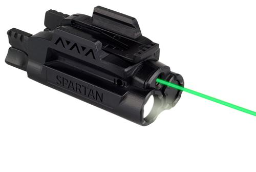 LaserMax Spartan Adjustable Light & Laser - Green laser/Mint Light, AAA battery, 120 lum, Fits Picatinny & Weaver Rails?>