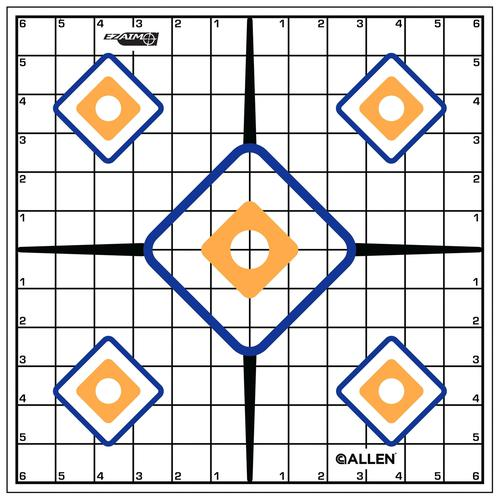 "Allen Shooting Accessories, Targets/Throwers - EZ Aim Sight Grid Target, 12""x12"", 12 Pack?>"