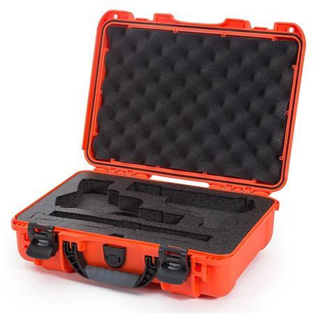 "Nanuk Professional Protective Cases - Classic Double Pistol Case, Pre-cut Foam, Waterproof & Impact Resistant, 14.3"" x 11.1"" x 4.7"", Orange?>"
