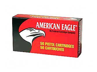 Federal American Eagle Handgun Ammo - 9mm Luger, 147Gr, FMJ Flat Point, 50rds Box, 1000fps?>