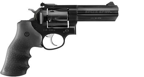 "Ruger GP100 DA/SA Revolver - 357 Mag, 4.2"", Blued, Alloy Steel, Hogue Monogrip Grips, 6rds, Ramp Front & Adjustable Rear Sights?>"