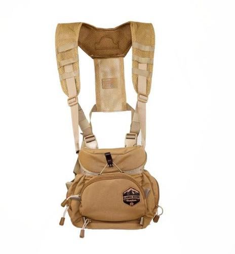 Alaska Guide Creations Binocular Harness Packs - Alaska Classic MAX Bino Pack, Coyote Brown, Fits Up To 12x50 Binoculars, & Large Rangefinders?>