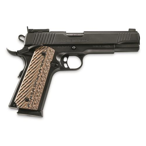 "Girsan MC 1911 Match Semi-Auto Pistol - 45 ACP, 5"", Black, Extended Ambidextrous Safety, Flared Magwell, Black & Gray G10 Grips, Adjustable Rear Sight, Extended Beavertail, 2x8rds?>"