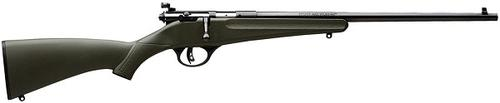 "Savage Arms Single Shot Series, Rascal Rimfire Single Shot Bolt Action Rifle - 22 S/L/LR, 16.125"", Satin Blued, Carbon Steel, Matte Green Synthetic Stock, Adjustable Peep Sights, AccuTrigger?>"