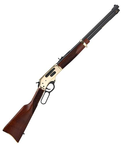 "Henry Repeating Arms Side Gate Lever Action Rifle - 30-30, 20"", Blued, Polished Brass Receiver, American Walnut Stock, Adjustable Buckhorn Rear Sight & Ramp Front, 5rds?>"