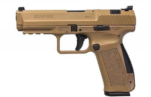 "Century International Arms Ltd, Canik TP-9 Single Action Semi-Auto Pistol - 9mm, 4.5"", FDE, FDE Polymer Frame, 2x10rds, Warren Tactical Sights w/ U-Slot Front & White Dot Rear, Bottom Rail, Holster?>"