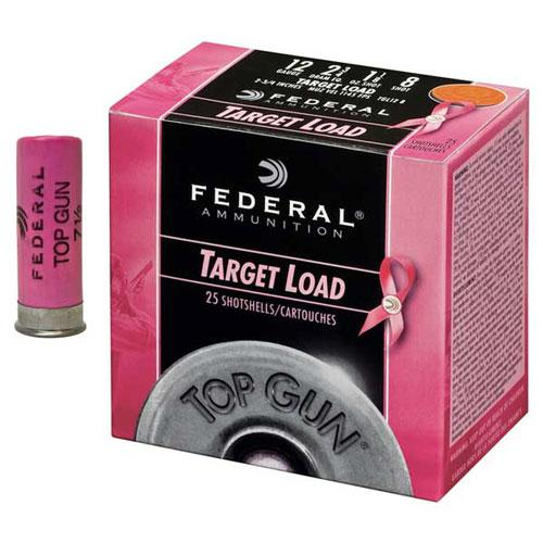 "Federal Top Gun Target Load Shotgun Ammo - 12Ga, 2-3/4"", 2-3/4DE, 1-1/8oz, #8, Pink, 250rds Case?>"