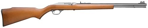 "Marlin Model 60SB Semi-Auto Rifle - 22 LR, 19"", Micro-Groove Rifling, Stainless Steel, Monte Carlo Walnut Finished Laminated Hardwood Stock w/Full Pistol Grip & Mar-Shield Finish, 14rds, Ramp Front & Adjustable Rear Open Sights?>"