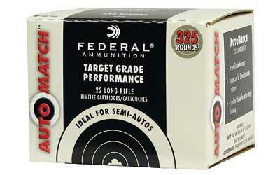 Federal AutoMatch Target Grade Performance Rimfire Ammo - 22 LR, 40Gr, Solid, 325rds Bulk Pack, 1200fps?>