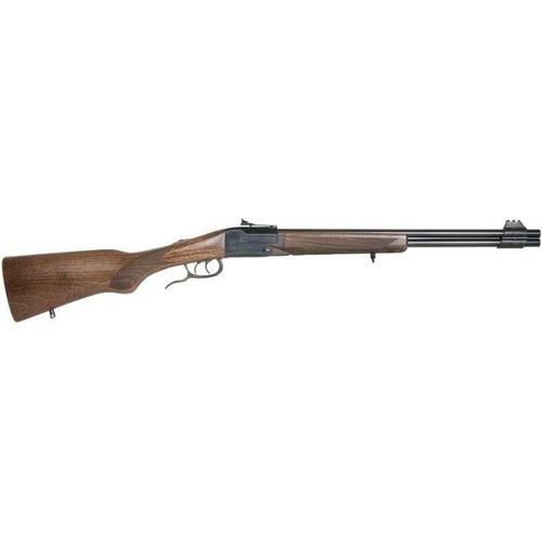 "Chiappa Double Badger Over/Under Rifle - 22 LR/410 Bore, 19"", Matte Black, Semi-Gloss Beech Wood Stock, Fixed Fiber Optic Front & Adjustable Fiber Optic Rear Sights, Double Triggers, Extractors?>"