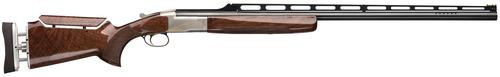 "Browning BT-99 Max High Grade Single Shot Shotgun - 12Ga, 2-3/4"", 32"", Adjustable Comb & Rib, Polished Blue/Silver Nitride Finish, Gloss Monte Carlo Grade V/VI Walnut Stock, GraCoil Recoil Reduction System, Ported, Invector-Plus Midas Grade (F/IM/M)?>"