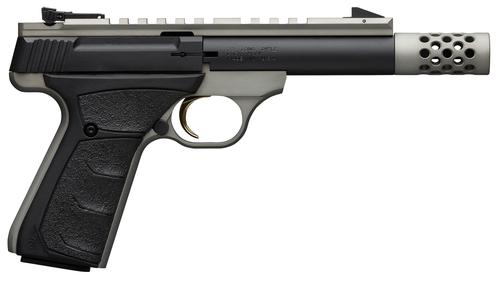 "Browning Buck Mark Field/Target Micro SR Rimfire Semi-Auto Pistol - 22 LR, 4-2/5"", Matte Black w/ Grey Anodized Frame, Aluminum Alloy Receiver, UFX Overmolded Grips, 10rds, Pro-Target Adjustable Sights, Full Length Picatinny Scope Rail, w/ Pistol Rug?>"