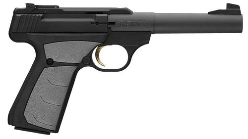 "Browning Buck Mark Camper UFX Rimfire Single Action Semi-Auto Pistol - 22 LR, 5-1/2"", Matte Black Aluminum Alloy Receiver, Textured Grip Panels, 10rds, Pro-Target Sights?>"