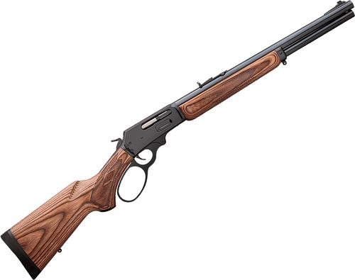 "Marlin Model 1895GBL Big Bore Lever Action Rifle - 45-70 Govt, 18.5"", Blued, American Pistol-Grip Two Tone Brown Laminate Stock, 6rds, Ramp Front Sight w/Brass Bead & Wide-Scan Hood & Adjustable Semi-Buckhorn Folding Rear Sights, Big-Loop Finger Lever?>"