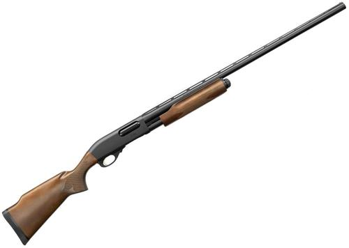 "Remington Model 870 Express Trap Pump Action Shotgun - 12, 3"", 30"", Vented Rib, Matte Black, Hardwood Stock, 4rds, Fixed Modified Choke, Bead Sights, Gold Trigger?>"