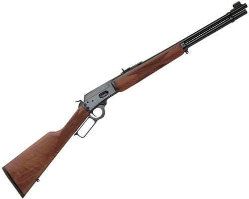"Marlin Model 1894 Lever Action Rifle - 44 Rem Mag/44 S&W Special, 20"", 1:38"", Blued, American Black Walnut Straight Grip Stock, 10rds, Ramp Front Sight w/Brass Bead & Wide-Scan Hood & Adjustable Semi-Buckhorn Folding Rear Sights?>"