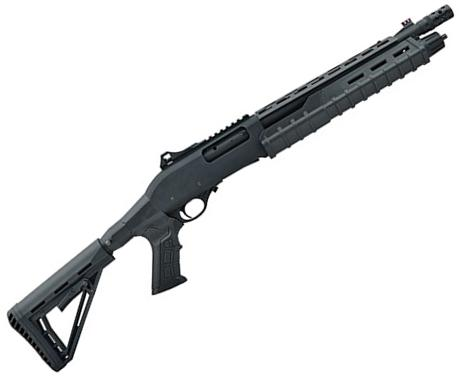 "Canuck Commander Pump Action Shotgun - 12ga, 3"", 14"", Black Synthetic Adjustable Pistol Grip Stock, Fiber Optic Front Sight, Optic Rail, Heat Sheild, Mobil Choke Flush (C,M,F) + Breacher Choke?>"