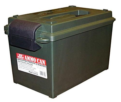 "MTM Case-Gard Ammo Cans & Crates, Ammo Can - AC11 Ammo Can, 7.5""(L)x13""(W)x7.25""(H) / 8.7""(L)x15.5""(W)x9""(H), Forest Green?>"