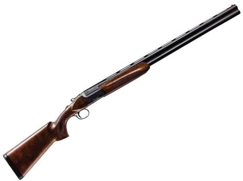 "Akkar Churchill 812 Oxycap Over/Under Shotgun - 12Ga, 3"", 28"", Vented Rib, Matte, Nitrate Coated Steel Receiver, Select Walnut Stock, Fiber Optic Front Sight, Mobil Choke (F,IM,M,IC,C)?>"