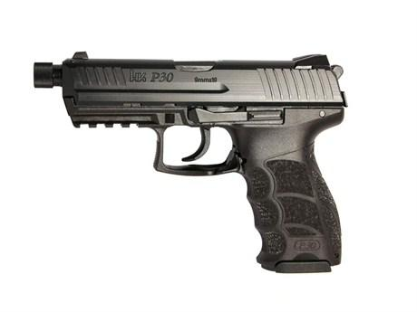 Heckler & Koch (H&K) P30 V3 DA/SA Action Semi-Auto Pistol - 9mm, 106mm Threaded, Blued, Polymer, 2x10rds, Fixed Sights?>