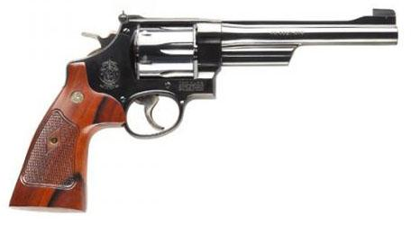 "S&W Classic Model 25-15 DA/SA Revolver - 45 Long Colt, 6-1/2"", Bright Blued, Checkered Square Butt Walnut, 6rds, Micro Adjustable Sight?>"