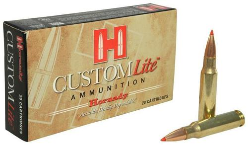 Hornady Custom Lite Rifle Ammo - 308 Win, 125Gr, SST Custom Lite, Reduced Recoil, 20rds Box?>