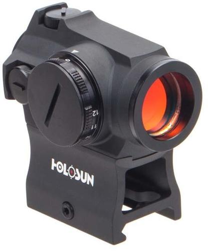 Holosun Reflex Sights - HS403R Micro Reflex Sight, Black, 2 MOA Red Dot,10DL & 2NV Brightness Settings, Rotary Switch, Multi-Layer Coating, Waterproof IP67, w/Lower 1/3 AR Height Mount & Low Base, CR2032, 100,000 hrs?>