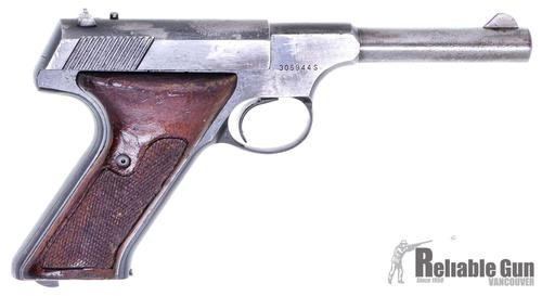 "Colt Huntsman Surplus Semi-Auto Rimfire Pistol -  22 LR, 4.5"", Blued, Fixed Sights, Wood Grips, One Mag, Blue Worn & Pitted, Poor Condition?>"