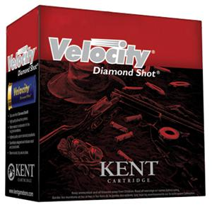 "Kent Velocity Diamond Shot Lead Sporting/Target Shotgun Ammo - 12Ga, 70mm (2-3/4""), 24g, #8.5, 250rds Case, 1250fps (International/Olympic Skeet)?>"